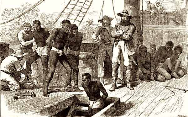 illustrations of slaves in a ship