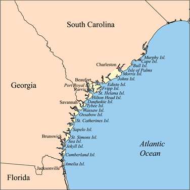 map of the Sea Islands
