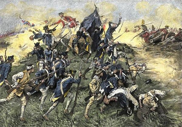 Painting depicting the 1779 Siege of Savannah