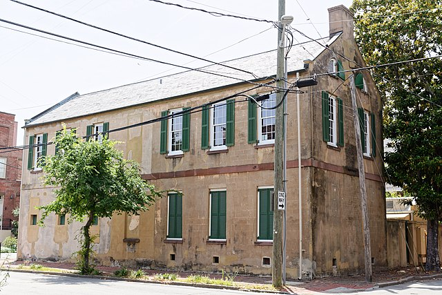 The slave quarters and carriage house of the Owens Thomas House.