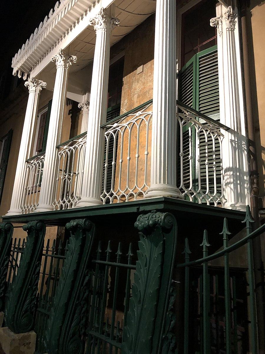 Raised balcony of the Owens Thomas House
