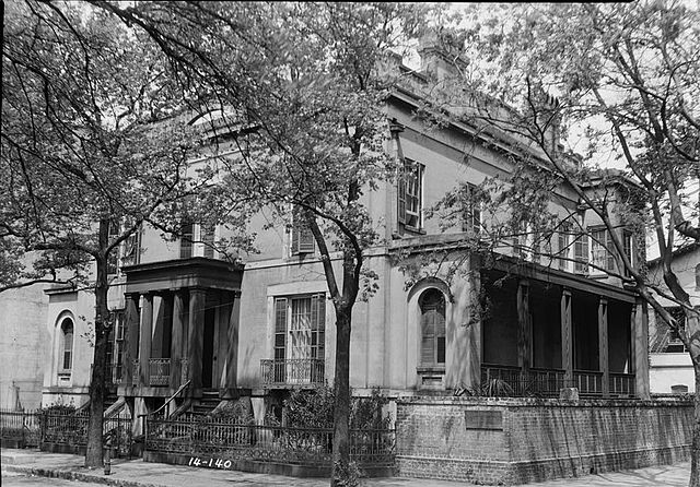 Historic black and white photo of the Sorrel Weed House